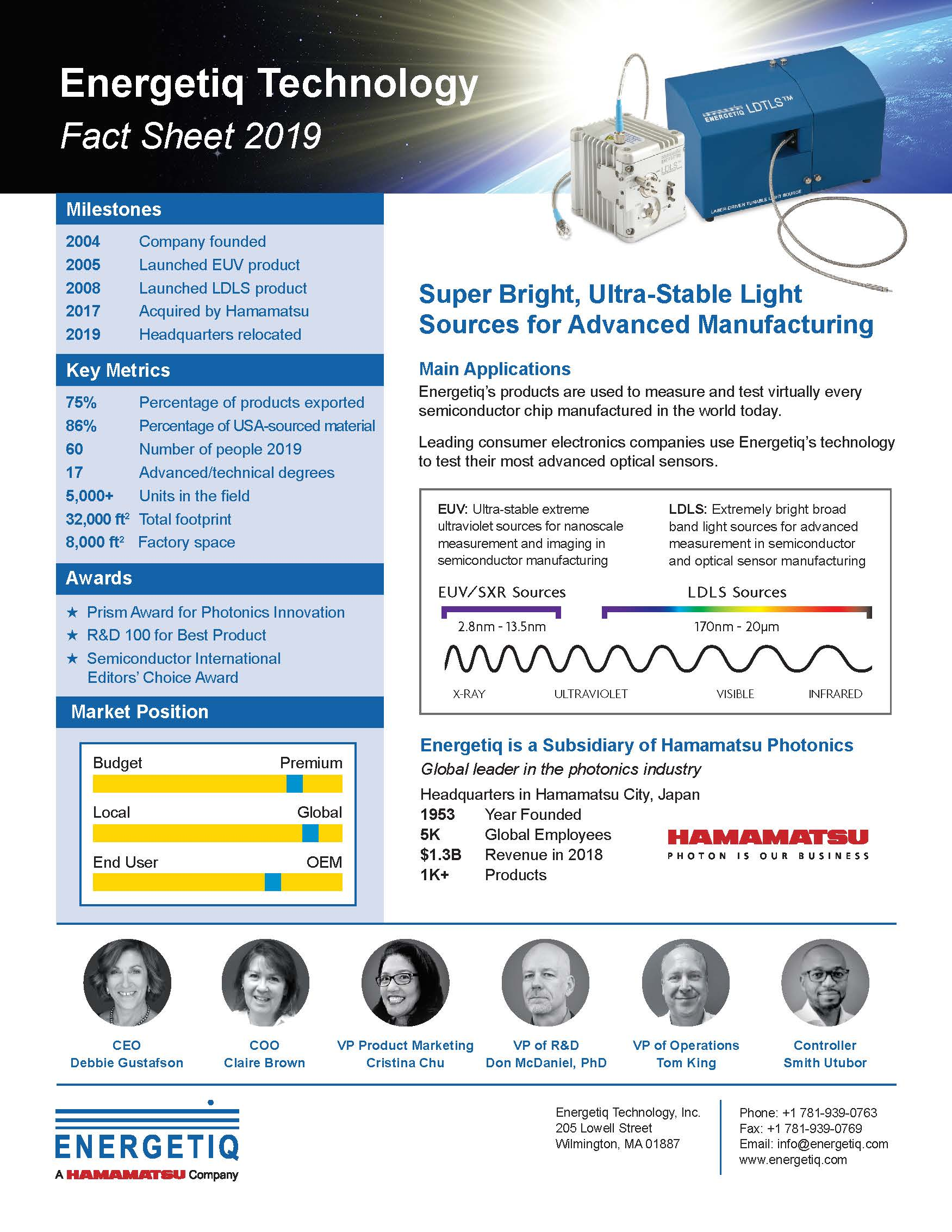 Energetiq Technology Fact Sheet_2019